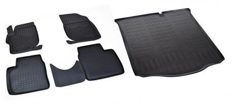 Коврики в салон и багажник CITROEN C-Elysee, Peugeot 301 2012-