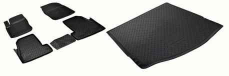 Комплект ковриков в салон и багажник FORD FOCUS 3 хэтчбек 2011-2015