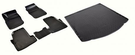 Комплект ковриков в салон и багажник FORD FOCUS 3 седан 2015-