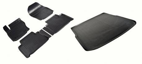Комплект ковриков в салон и багажник FORD S-Max 2006-2015