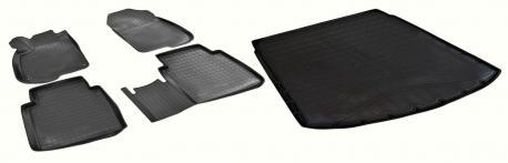 Комплект ковриков в салон и багажник (верхняя полка) HONDA CR-V 5 2017-