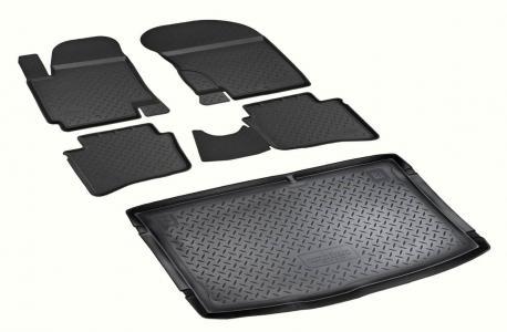Комплект ковриков в салон и багажник Hyundai i20 2009-2014