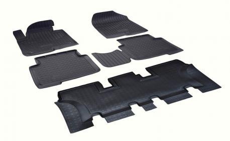 Комплект ковриков в салон 3 ряда Hyundai Santa Fe 3 DM 7 мест 2012-2018