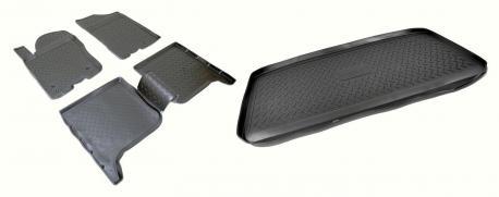 Комплект ковриков в салон и багажник INFINITI QX56 2007-2010