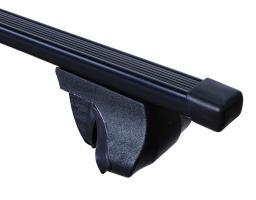 Багажник универсальный на рейлинги, прямоугольные дуги 1,4 метра в пластике