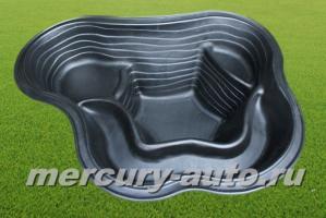 Пластиковый пруд №1/2 (V-125л 1250x840x400)